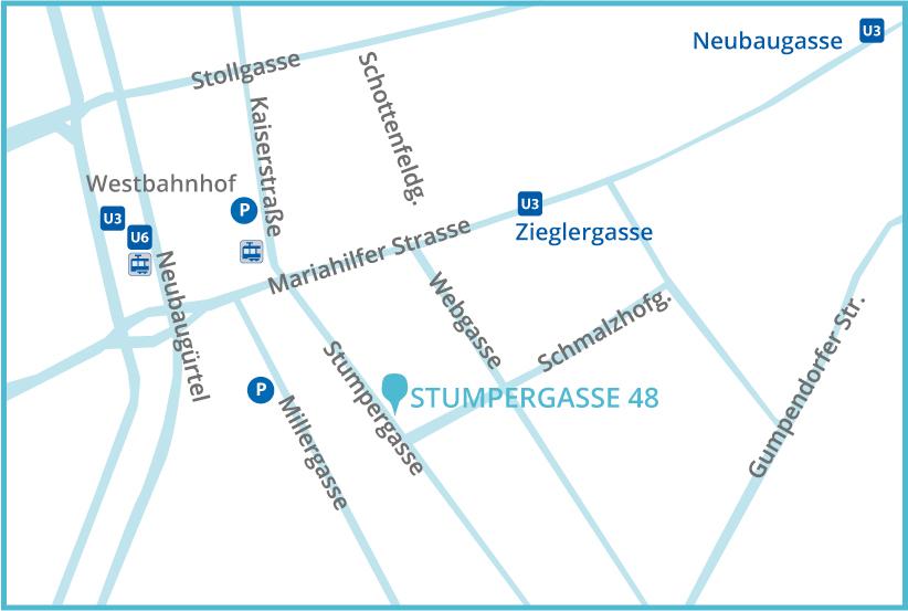 besseranders - Stumpergasse 48, Anreise